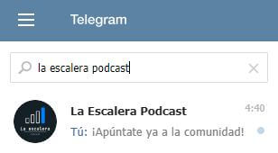 Apúntate a la comunidad de Telegram de La Escalera Podcast