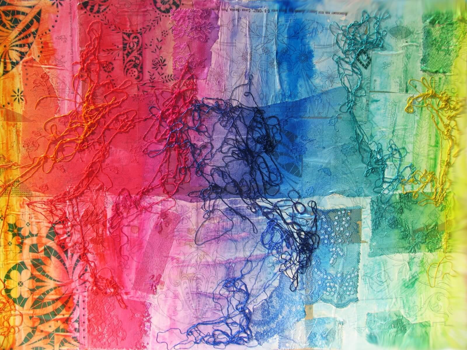 Cuadro de la colección Texcollage del pintor José Alberto López